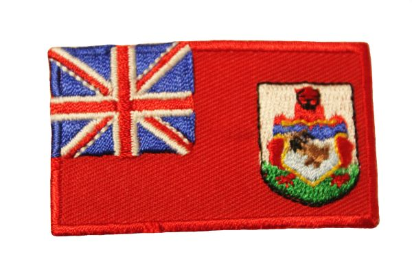 BERMUDA COUNTRY FLAG IRON ON PATCH CREST BADGE ... Size : 1.5 X 2.5 INCH