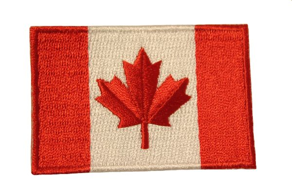 "CANADA Country Flag Iron On PATCH CREST BADGE .. Size : 1.5"" X 2.5"" Inch ..New"