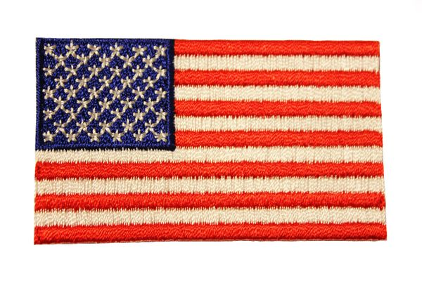 "USA Country Flag Iron On PATCH CREST BADGE .. Size : 1.5"" X 2.5"" Inch"