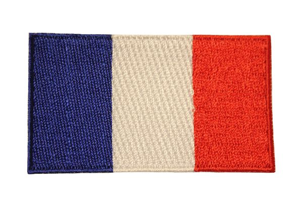 FRANCE Country Flag Iron On PATCH CREST BADGE