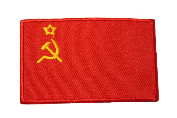 "USSR Old Country Flag Iron On PATCH CREST BADGE .. Size : 1.5"" X 2.5"" Inch"