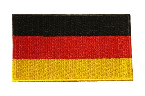 "GERMANY Plain Country Flag Iron On PATCH CREST BADGE ... Size : 1.5"" X 2.5 ""Inch"