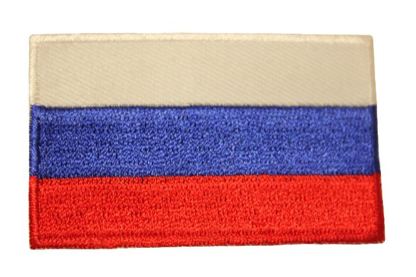 "RUSSIA Country Flag Iron On PATCH CREST BADGE .. Size : 1.5"" X 2.5"" Inch"