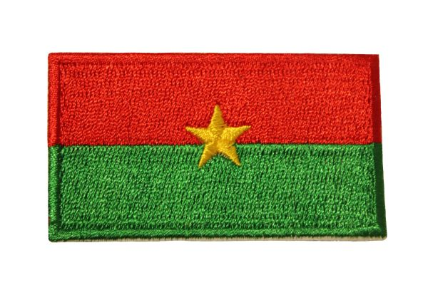 BURKINA FASO COUNTRY FLAG IRON ON PATCH CREST BADGE .. Size : 1.5 X 2.5 INCH