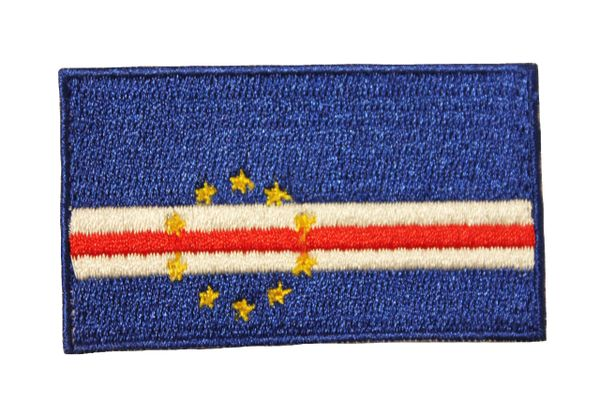 CAPE VERDE COUNTRY FLAG IRON ON PATCH CREST BADGE .. Size : 1.5 X 2.5 INCH
