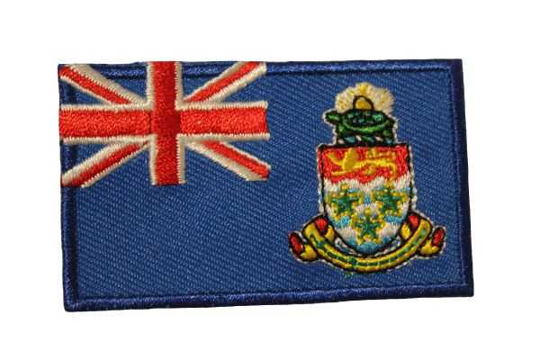 CAYMAN ISLANDS COUNTRY FLAG IRON ON PATCH CREST BADGE .. Size : 1.5 X 2.5 INCH