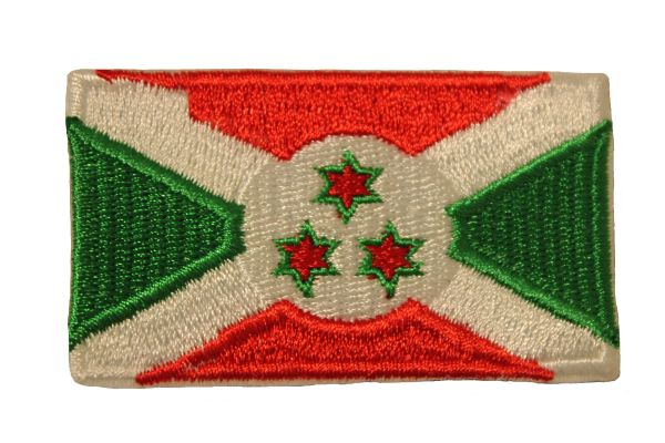 BURUNDI COUNTRY FLAG IRON ON PATCH CREST BADGE .. Size : 1.5 X 2.5 INCH