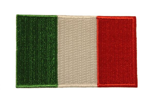 "ITALIA ITALY COUNTRY FLAG IRON ON PATCH CREST BADGE .. Size : 1.5"" X 2.5"" INCH"