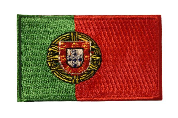 "PORTUGAL COUNTRY FLAG IRON ON PATCH CREST BADGE .. Size : 1.5"" X 2.5"" INCH"