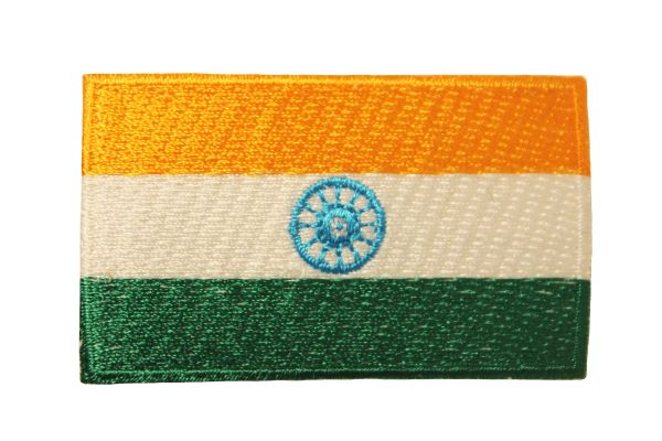 INDIA NATIONAL COUNTRY FLAG IRON ON PATCH CREST BADGE ..Size : 1.5 X 2.5 INCHE