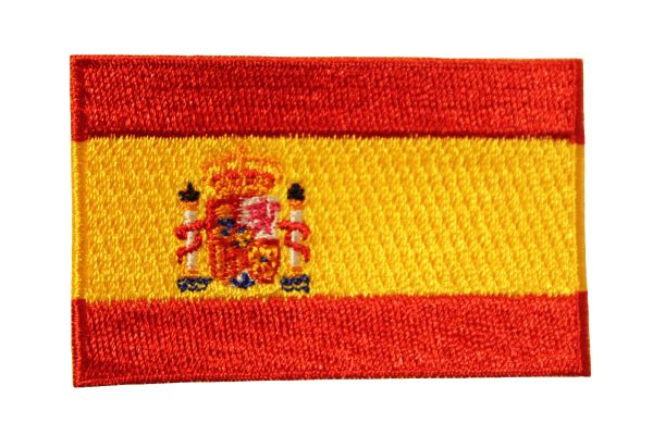 "SPAIN ESPANA NATIONAL FLAG IRON ON PATCH CREST BADGE .. Size : 1.5"" X 2.5"" INCH"