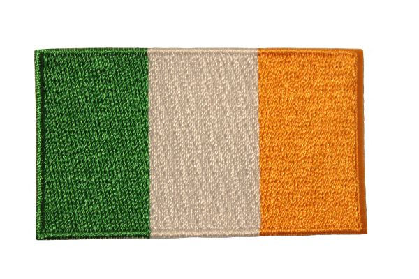 "IRELAND COUNTRY FLAG IRON ON PATCH CREST BADGE .. Size : 1.5"" X 2.5"" INCH"