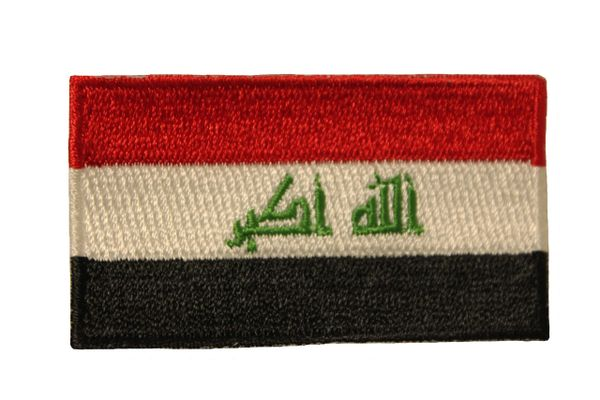 "IRAQ New COUNTRY FLAG IRON ON PATCH CREST BADGE ..Size : 1.5"" X 2.5"" INCH"