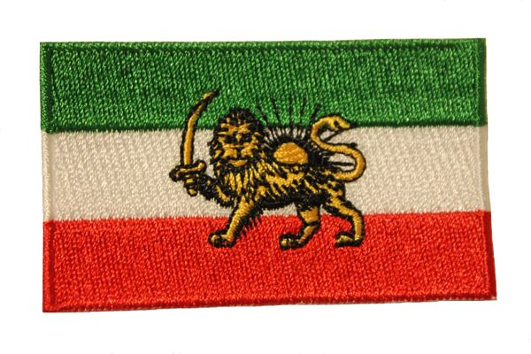 "IRAN PERSIAN WITH LION COUNTRY FLAG IRON ON PATCH CREST BADGE .. Size : 1.5"" X 2.5"" INCH"