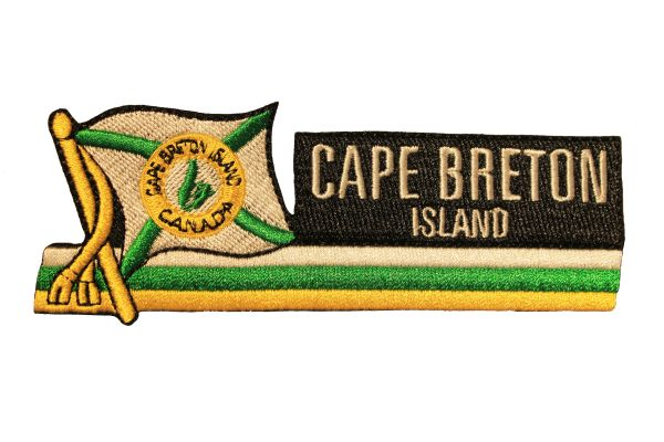 CAPE BRETON ISLAND Sidekick Word Embroidered Iron - On PATCH CREST BADGE