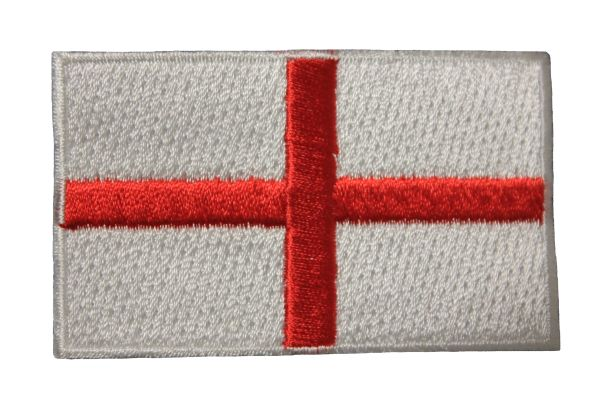 ENGLAND ST GEORGES CROSS NATIONAL COUNTRY FLAG IRON ON PATCH CREST BADGE ... 1.5 X 2.5 INCHES .. NEW