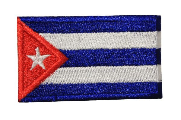 CUBA Country Flag Iron On PATCH CREST BADGE