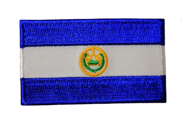 EL SALVADOR Country Flag Iron On PATCH CREST BADGE