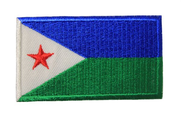 DJIBOUTI Country Flag Iron On PATCH CREST BADGE