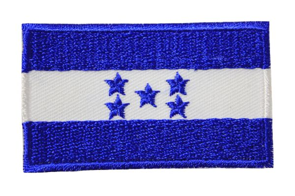 HONDURAS NATIONAL COUNTRY FLAG IRON ON PATCH CREST BADGE .. 1.5 X 2.5 INCHES .. NEW