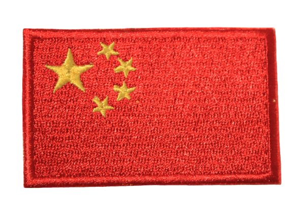 CHINA NATIONAL COUNTRY FLAG IRON ON PATCH CREST BADGE .. 1.5 X 2.5 INCHES .. NEW