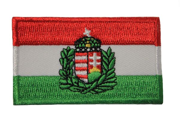 WAR FLAG Of HUNGARY ( 1939 - 1945 ) IRON ON PATCH CREST BADGE