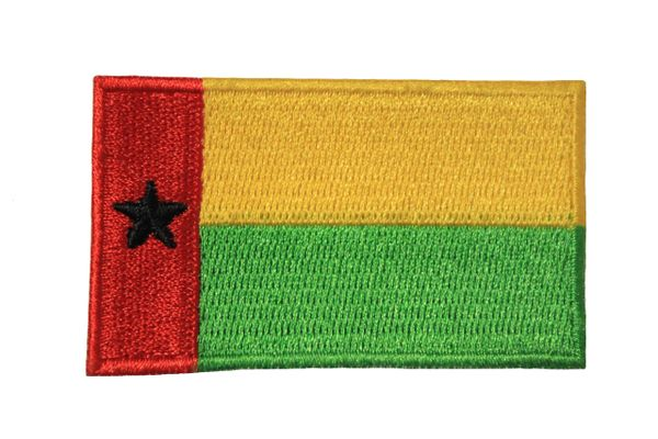 GUINEA BISSAU NATIONAL COUNTRY FLAG IRON ON PATCH CREST BADGE .. 1.5 X 2.5 INCHES . NEW