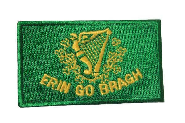 ERIN GO BRAGH FLAG IRON ON PATCH CREST BADGE
