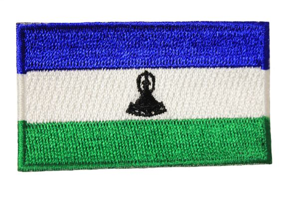 LESOTHO NATIONAL COUNTRY FLAG IRON ON PATCH CREST BADGE .. 1.5 X 2.5 INCHES .. NEW