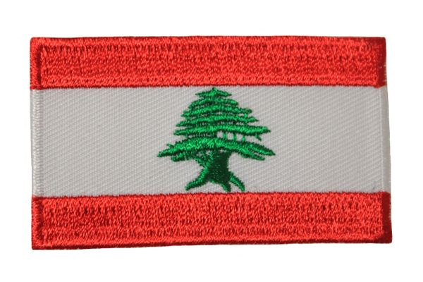 LEBANON NATIONAL COUNTRY FLAG IRON ON PATCH CREST BADGE .. 1.5 X 2..5 INCHES .. NEW