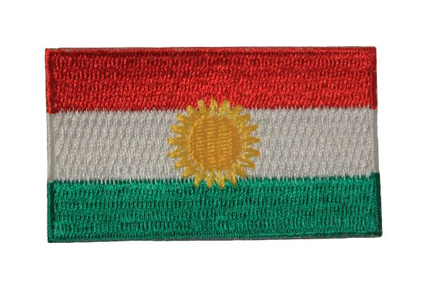 KURDISTAN NATIONAL COUNTRY FLAG IRON ON PATCH CREST BADGE .. 1.5 X 2.5 INCHES .. NEW