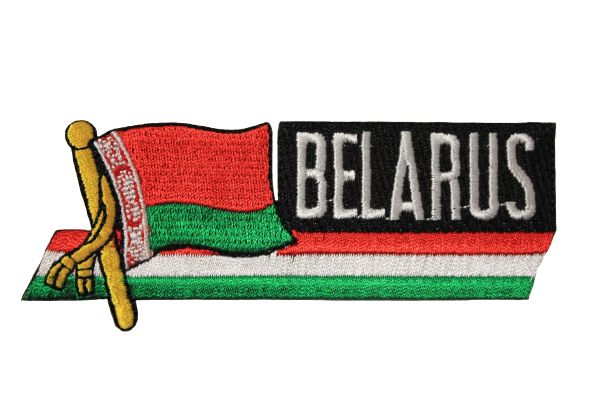 BELARUS New SIDEKICK WORD Country Flag Iron - On PATCH CREST BADGE