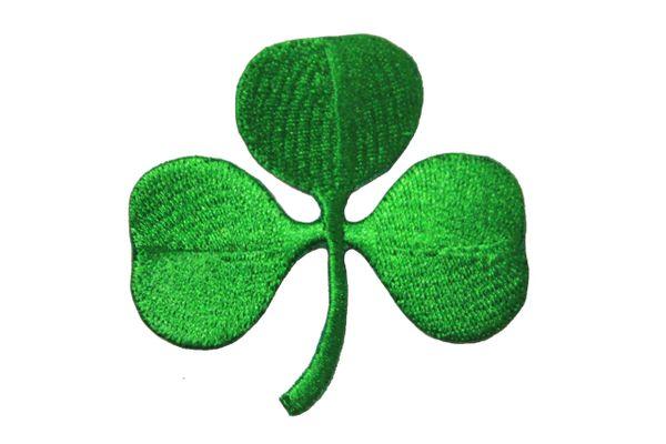 Irish SHAMROCK Green CLOVER Iron - On PATCH CREST BADGE