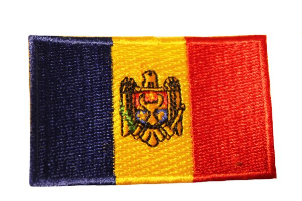 MOLDOVA Country Flag Iron - On PATCH CREST BADGE