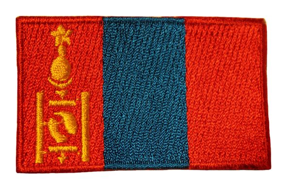 MONGOLIA Country Flag Iron - On PATCH CREST BADGE