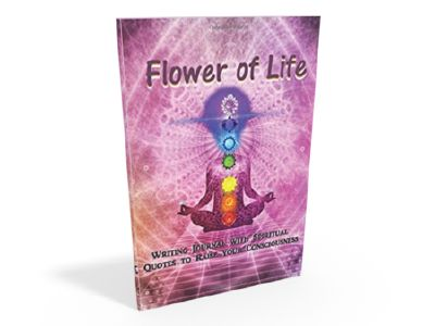 "Flower of Life ""writing journal with spiritual quotes to raise your consciousness"" Quisqueyana Press"