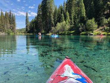 The head waters of the Wood River. Kayaking. Kayak rentals. Guided kayak tours.