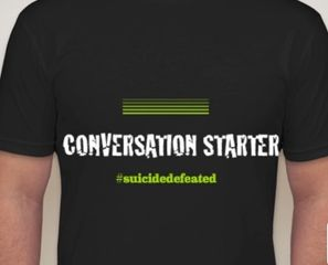 #SuicideDefeated T-shirts brought to you by AirwaveTakeOver.com