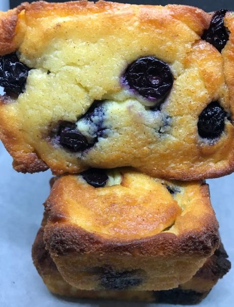 KETO LEMON BLUEBERRY LOAVES 1/2 DOZEN