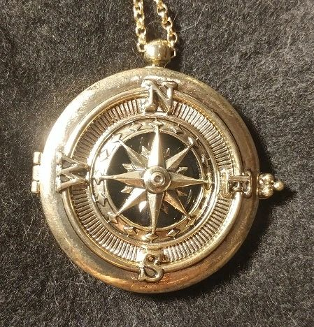Compass Magnifying Glass Necklace Pendant