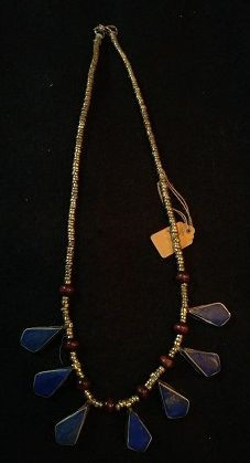 Tribal Blue Teardrop Lapis Necklace