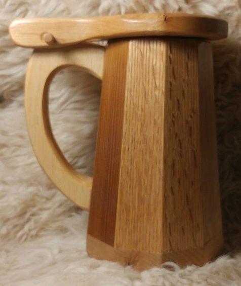 Wooden Tankard Mug #5