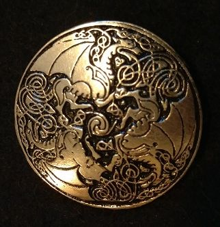 Celtic Dragons 1.5inch Pewter Broach