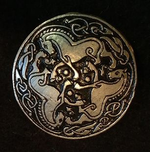 Celtic Draft Horses 1.5inch Pewter Broach