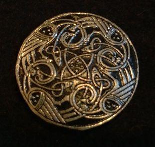 Celtic Herons 1.5inch Pewter Broach