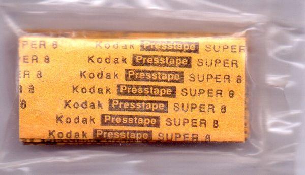 Kodak Super 8mm Presstapes for the Kodak Universal Tape Splicer (Limited Availability)