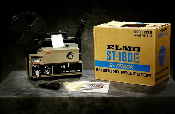 Elmo ST-180E Super 8mm Magnetic Sound Projector with Elmo Cover (Like New - Completely Restored!)