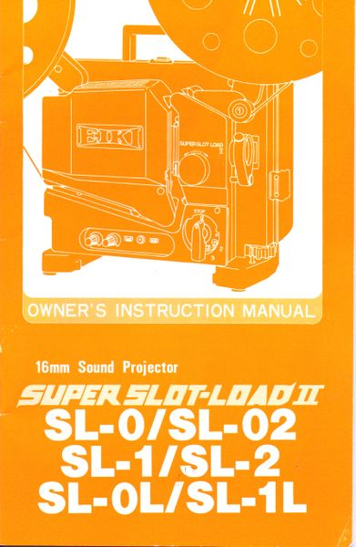Instruction Manual: EIKI Super Slot-Load II 16mm Movie Projector