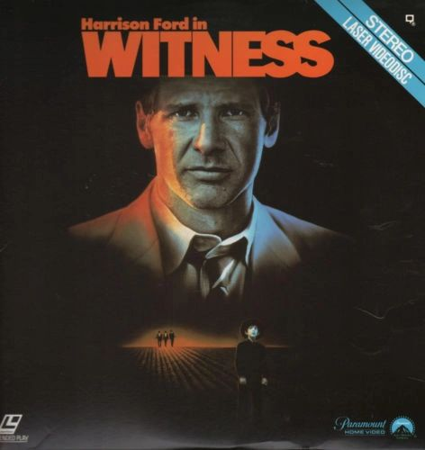 Witness starring Harrison Ford - Laserdisc
