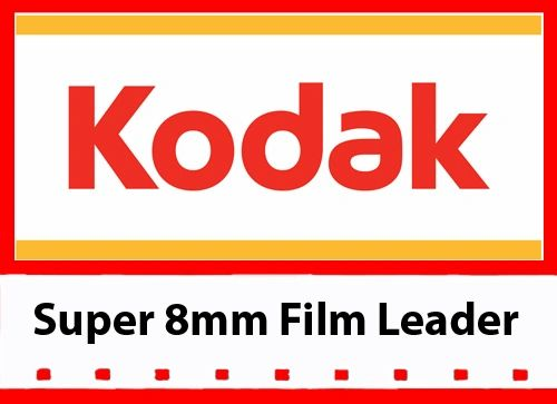Kodak 'New Generation' White Acetate Movie Leader - Super 8mm 50ft.